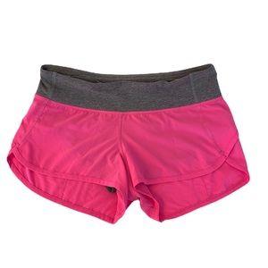 Lululemon Speed shorts Pink/Gray Size 4